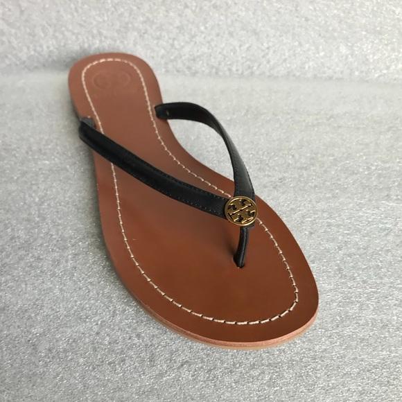 7e91636fc42df Tory Burch Terra Flat Logo Thong Sandal